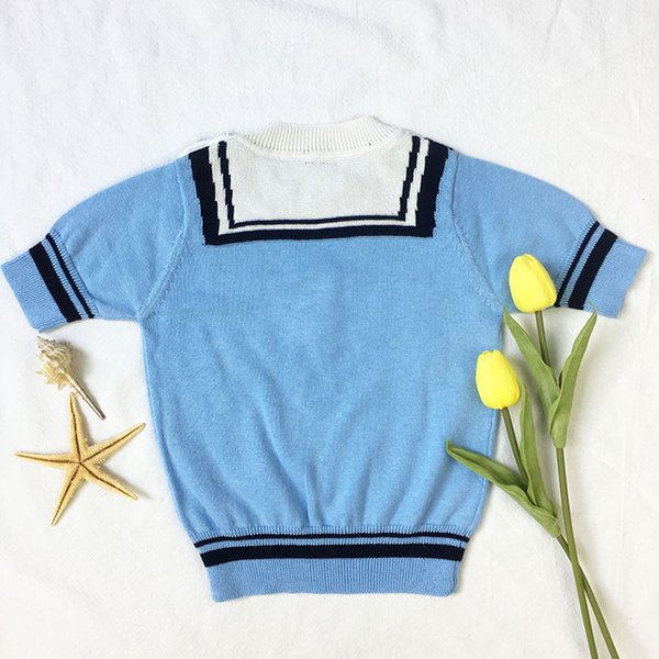 Baby Boy Sweater Autumn Navy Style Knitting Kids Clothes For Boys 100% Cotton Infant Toddler Girls Cardigan Kids Pullover