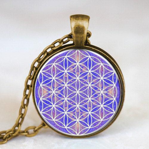 All'ingrosso - Steampunk Flower of Life Collana Om Yoga Chakra Mandala Collana donna pendente Dr Who 1 pz / lotto catena mens Sacred Geometry charm