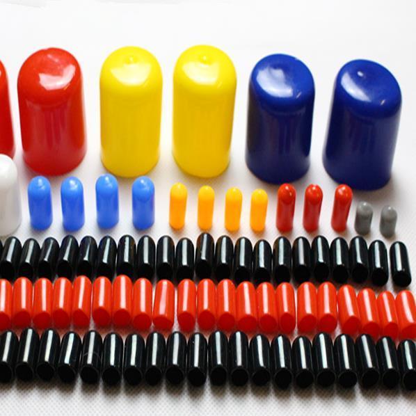 100 pcs. Tapones de goma Cubierta inteligente Tapón de tapa Protector de tornillo Tapa de sellado Diámetro interior de 2 mm a 14 mm Negro o rojo