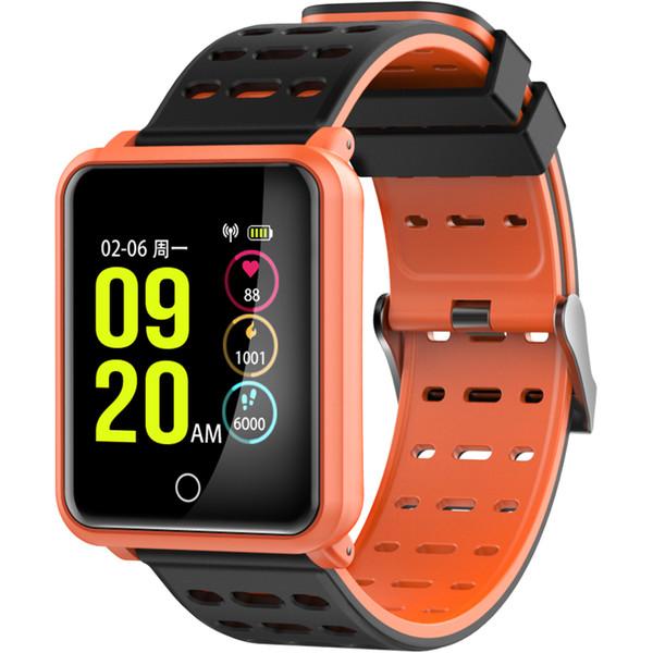 Pantalla de visualización colorida Smart Watch IP68 Impermeable Pulsera inteligente Presión arterial Ritmo cardíaco Rastreador Fitness Bluetooth reloj de pulsera