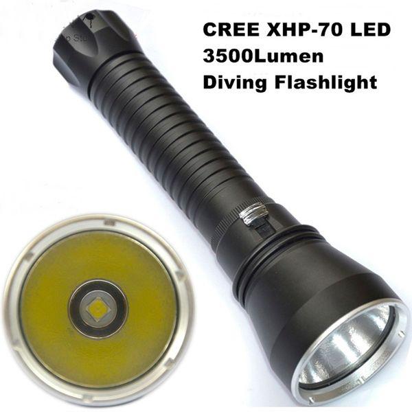 Dv15 Cree Xhp70 Taschenlampe Led 3500 Lumen Professionelle Tauchen 100 mt Aluminium Licht Cup Power Versprechen Dimmen Outdoor-Licht