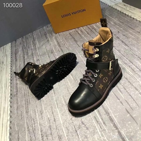 Brand Fashion Luxury Designer Women Winter Boots Genuine Leather Thigh High Booties Womens Over the Knee Boots Buckle Flats Boot Shoes 35-40