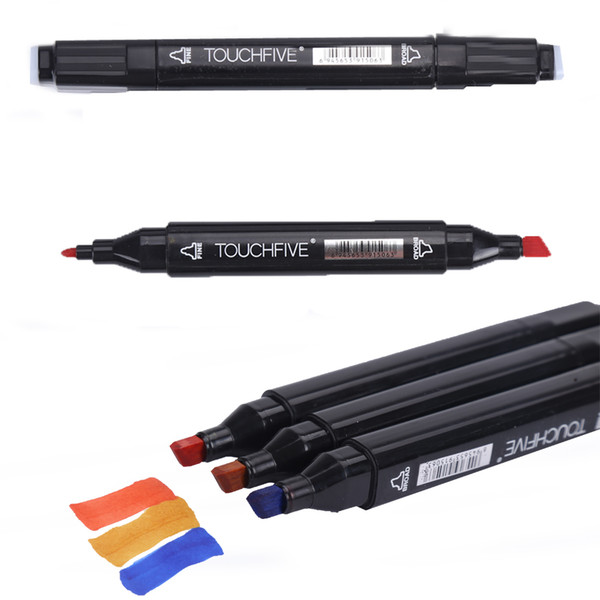 best selling 30 40 60 80 Dual Tips Art Animation Twin Marker Pens with Carrying Case Art Sketch Coloring Painting Highlighting Underlining Render Manga