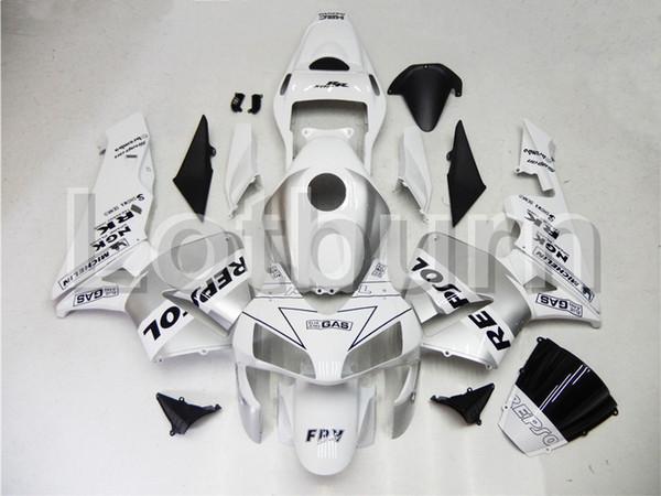 White Moto Fairing Kit Fit For Honda CBR600RR CBR600 CBR 600 2003 2004 03 04 F5 Fairings Custom Made Motorcycle Bodywork Injection Molding