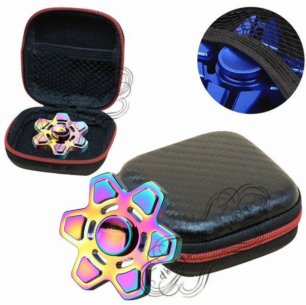 2017 New fingertips Organizer Storage Box Gift For Fidget Hand Spinner Triangle Finger Toy Bag Case Hot sale fingertips storage