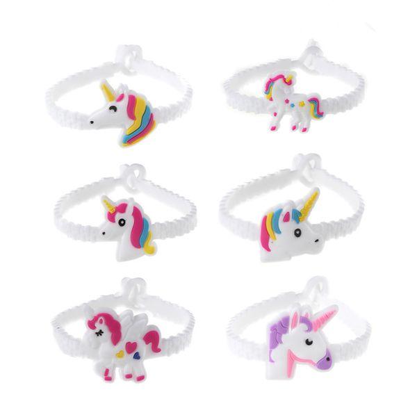top popular 2019 hot! Unicorn Wristbands cartoon Bracelets unicorn kid Toys For Kids Boys Girls Adults Birthday party Christmas Gifts 2020