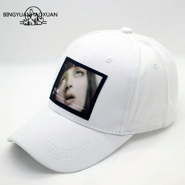 BINGYUANHAOXUAN Baseball Caps Letter Unisex For Women Men Hats Snapback Casual Solid color patch Sport Cap Golf Gorras White Hat