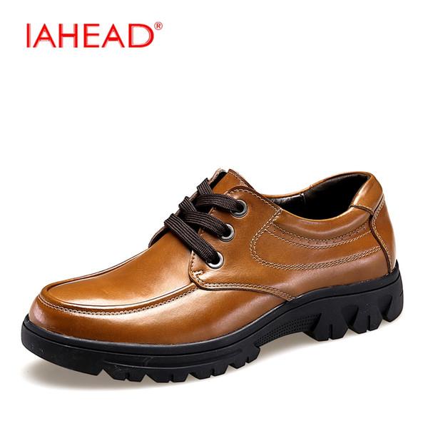 Yeni Kış Erkekler Ayakkabı Yüksek Kalite Erkekler Inek Deri Ayakkabı Mens Büyük Boyutları 38-50 Moda Flats Oxfords Rahat MQ572