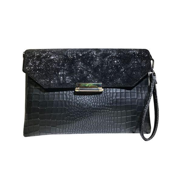Fashion Women Design Brand Crocodile Grain Envelope Crossbody Bag Clutch Handbag Ladies Shoulder Clutch Evening Bags For Party