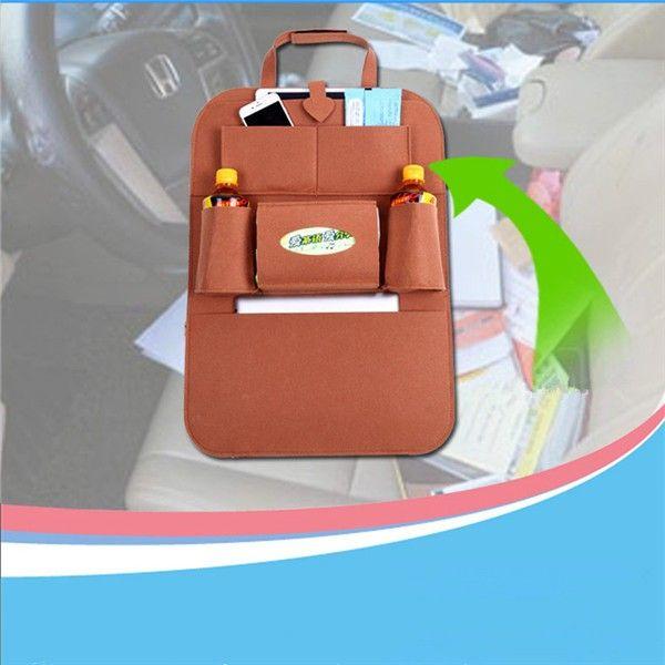 Auto Car Back Seat Storage Organizer Trash Net Holder Multi-Pocket Travel Storage Bag Hanger for Auto Capacity Storage Pouch 1PC