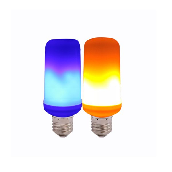 Criativas 3 modos + Bulb Gravidade Sensor Luzes Chama E27 LED Chama Efeito Fogo Lâmpada 3W cintilação Emulação Decor Lamp