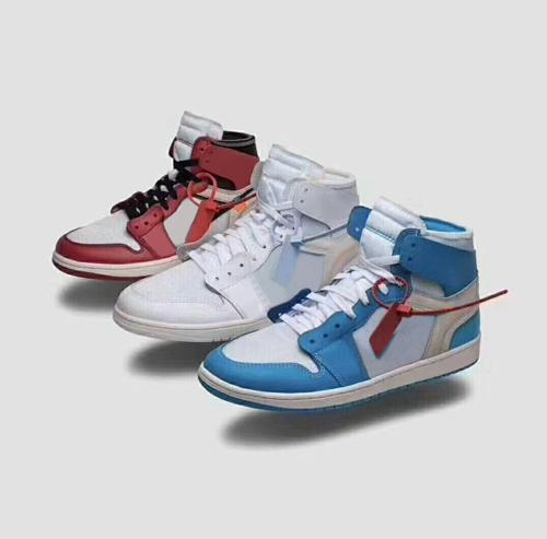 with Box 2018 Off Mens Basketball Shoes Womens Sneakers 1s for Men Brand Designer Sports Shoes Trainer White University Blue Chicago Size 13