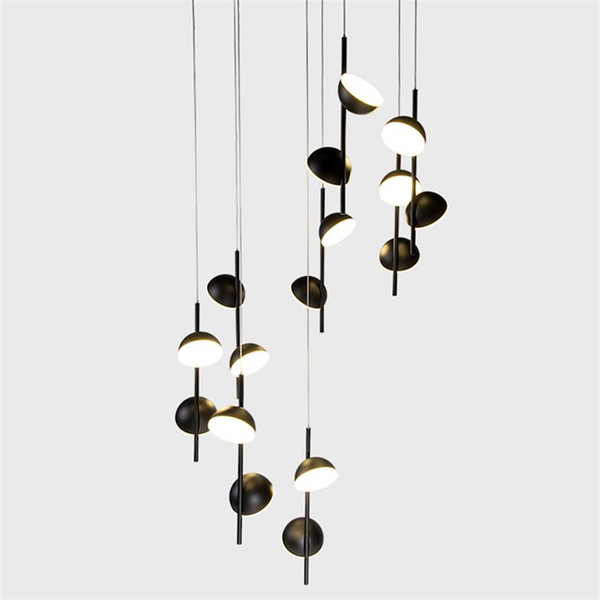 New Nordic Style Modern Minimalist Living Room Lamp Bedroom Bedside Round  Penthouse Chandelier Ceiling Lights Online Pendant Light Parts From ...