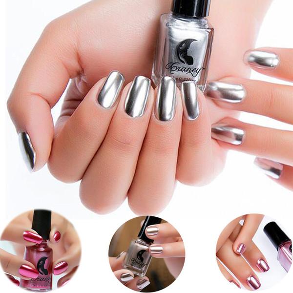 Espejo Efecto Plata Espejo Metálico Esmalte De Uñas Color Atractivo Acero Inoxidable Plata Nail Polish Nails Herramientas Del Arte Por Carloas 3428