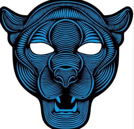Versione Party Sound Reactive LED Mask Dance Rave Light Up Regolabile Decorazione Maschera Regalo Consegna gratuita