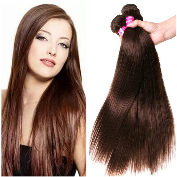 2019 Dark Brown Straight Hair Color Brown 4 Human Hair Extension Peruvian Brazilian Malaysian Indian Virgin Hair Weaves From Ruma Hair 62 06