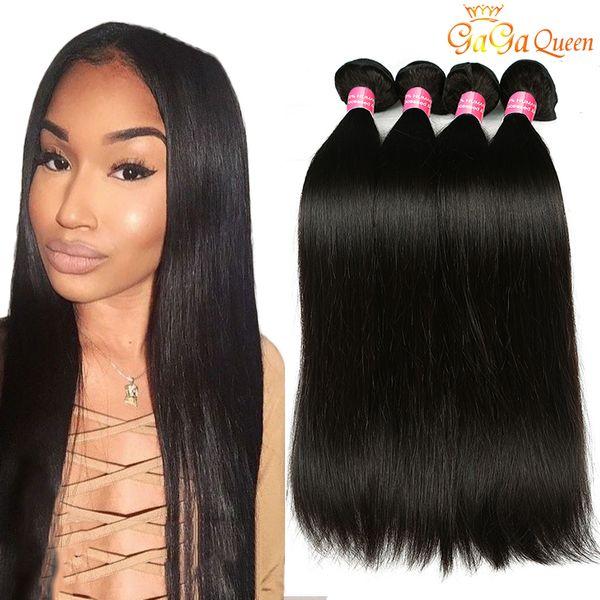Vendita all'ingrosso 8A Vergine peruviana dei capelli lisci Mix Lunghezza peruviana Lisci capelli vergini Non trattati peruviano Offerte di Bundle capelli umani