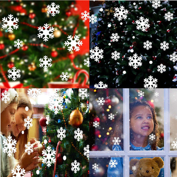 Snow Flakes Window Stickers Winter Snowflake Wall Stickers Christmas Window Wall Decals Xmas adesivo de parede mural A703