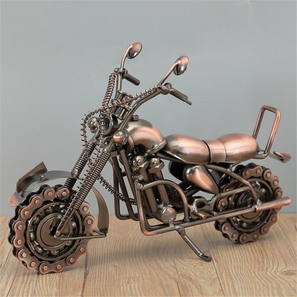 단철 대형 대형 수제 오토바이 모델 소장품 예술 조각 오토바이 인테리어 장식 현대 장식 홈 아트