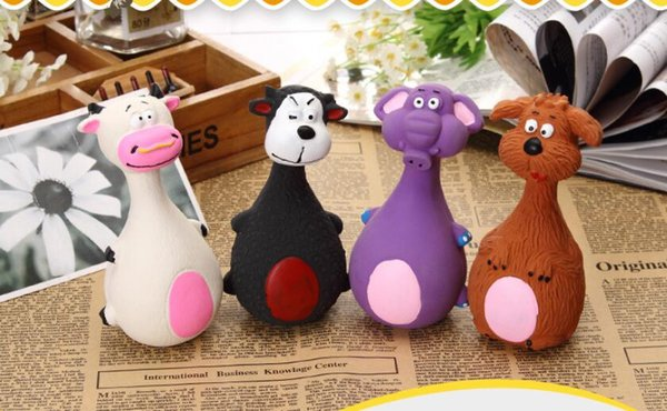 Pet Squeaky Chewing Toys Cat Dog Phonation Pets Toy Lovely Cartoon Anti Bite Toys Molar Tool Home Decor 13*7cm
