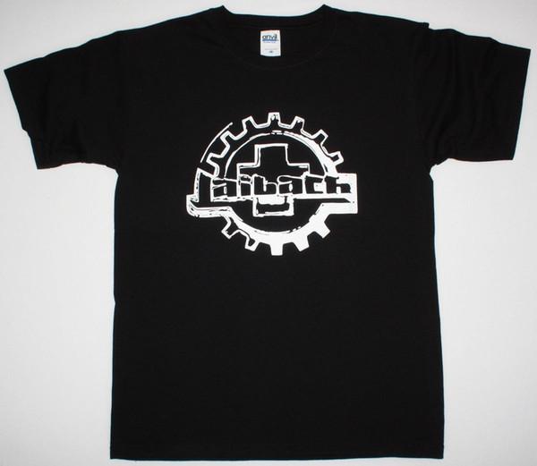 LAIBACH LOGO INDUSTRIAL DARK WAVE AVANT-GARDE EXPERIMENTAL NUEVA CAMISETA NEGRA 2018 New Brand Men T-Shirt Tops