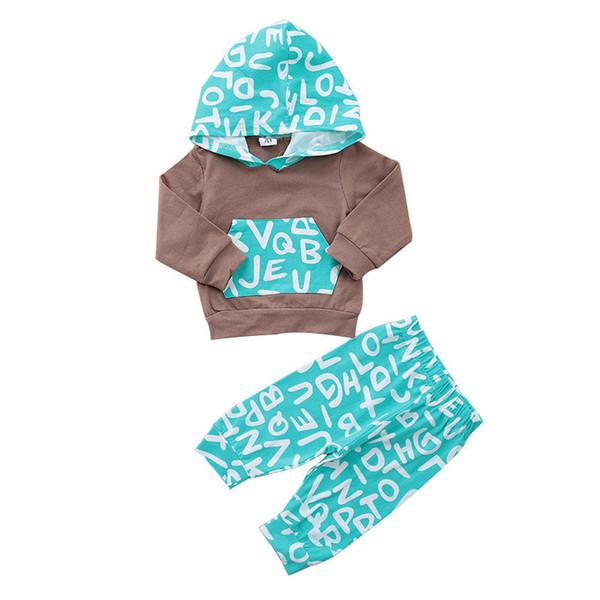 Baby Kleidung Set Neugeborenen Kinder Kleidung Kleinkind Baby Mädchen Outfits Baumwolle Langarm Hoodie Tops T-shirt + Hosen 2 STÜCKE