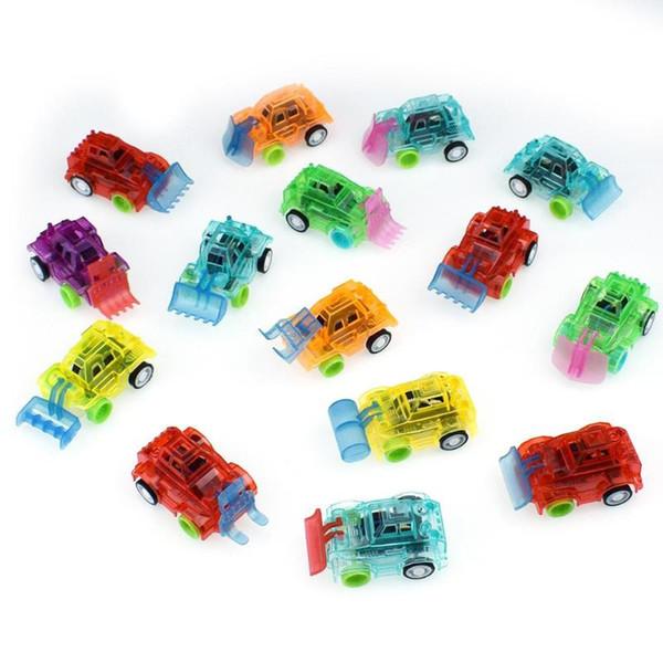 1PC Plastica Trasparente Giocattolo per auto Tirare indietro Piccola ingegneria modello di auto Giocattoli per bambini regalo