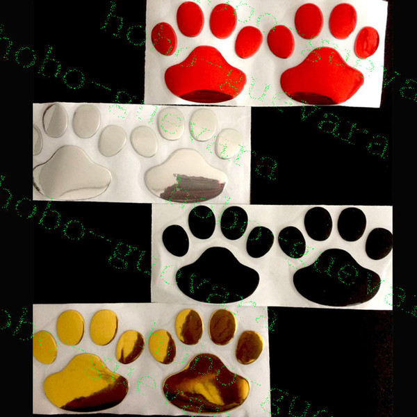 100pcs/lot Car Vehicle Decoration Footprint 3D PVC Stickers Stero Personality Exterior Accessories AUTO BODY DECAL DIY