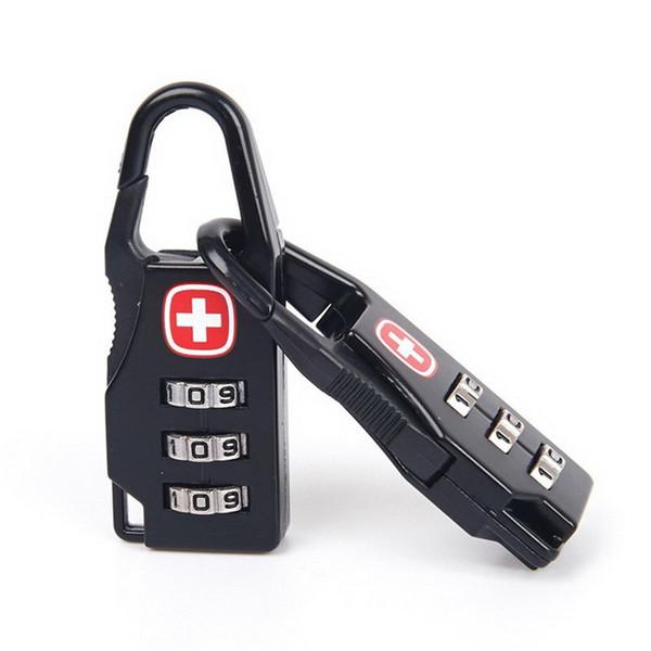 2 stücke Neue Kombination Safe Codenummer Vorhängeschloss für Gepäck Reißverschlusstasche Rucksack Handtasche Koffer Schubladenschrank