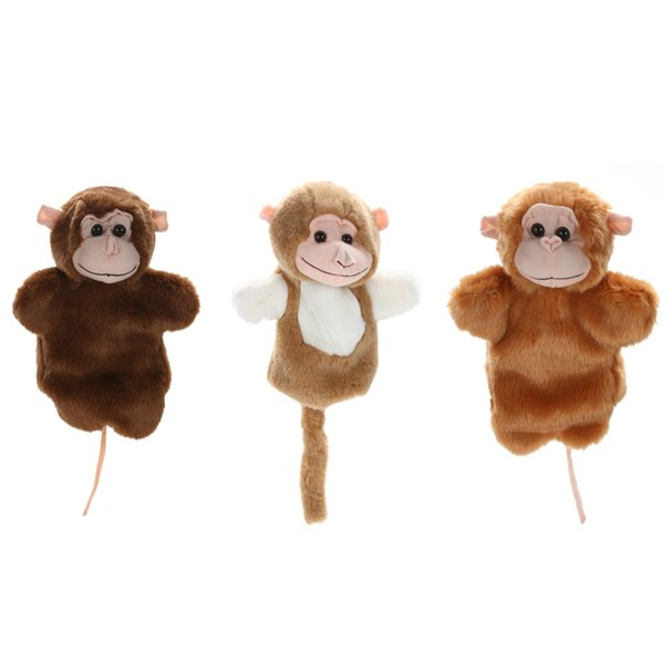 1 Pc Cute Monkey Hand Puppet Family Role Pretend Playing Toy Baby Kids Child Developmental Soft Doll Plush Toy Christmas Gift