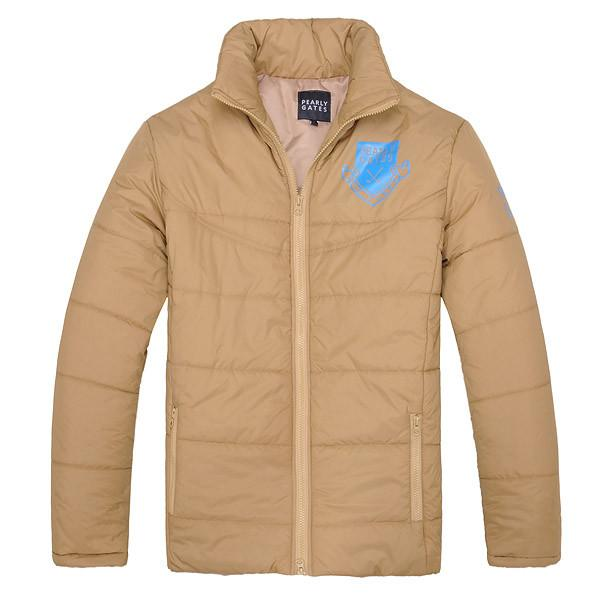 WOTUFLY Winter Pearly Gates Golf Jacket Keep Warm Clothes Outwear Outdoor Long Sleeve Windproof Zipper Coat For Man