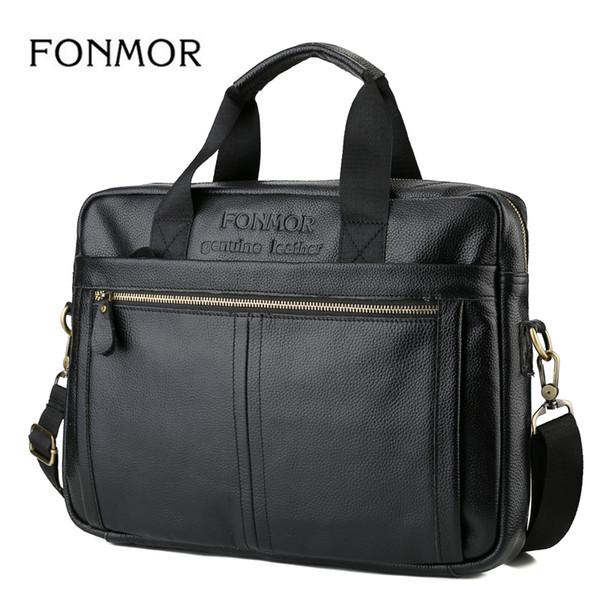 Ünlü Marka Erkekler Evrak Seyahat Omuz Çantaları Hakiki Deri Messenger Çanta erkek Inek Derisi Iş Evrak Erkek El çantaları