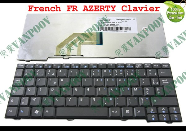 New Laptop keyboard for Acer Aspire One 531H D150 D250 P531 AOA150 ZG5, Emachines EM250 Black French FR AZERTY Clavier NSK-AJE0F