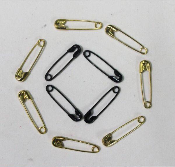 1000 Stück Sicherheitsnadeln Erkenntnisse Silber Golden Black Länge 19mm Sicherheitsnadel DIY Schmuckzubehör