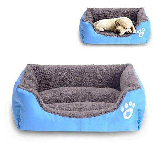Large Dog Bed Warm Rectangular Dog Bed Bottom Oxford Cloth Waterproof Pet Bed Kennel Pet Sleeping Bag Cat House 12 Colors