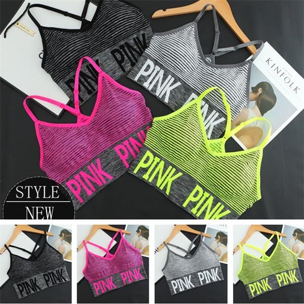 Haute qualité Sexy fitness Sports Vest Strap Bra Filles Yoga Running Gilet Push Up Bras Élastique De Remise En Forme T5B005