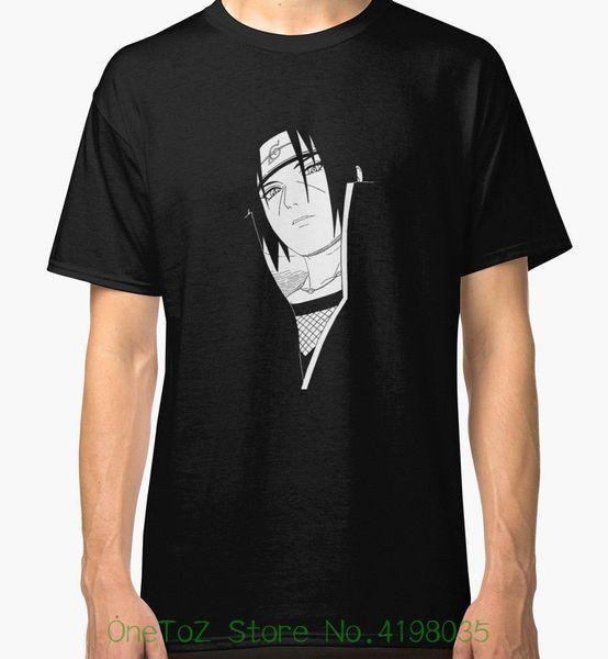 Itachi Uchiha Nieuwe T-shirt uomo Zwarte T-shirt O-hals Zomer Persoonlijkheid Mode Mannen T-shirt