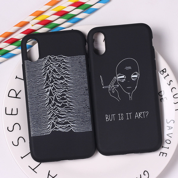 Phone Case For iphone X 6 6S 7 8 Plus 5S Samsung Galaxy S7 Edge S8 S9 Plus Note 8 Fashion Alien & Shoes Painted Soft Silicone iphone Cover