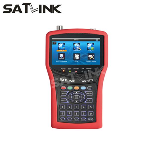 Original SATLINK WS-6979 DVB-S2 DVB-T2 combo buscador de satélites analizador de espectro medidor de satélites 4.3 pulgadas LCD MPEG4 Satlink buscador WS6979