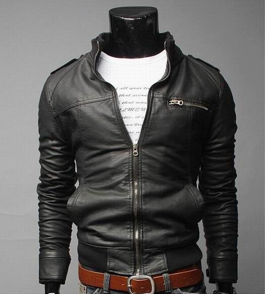 2017 Brand Man Zipper Leather Jackets PU Classic Jaqueta Masculinas Inverno Couro Jacket Men Black Motorcycle Leather Jacket