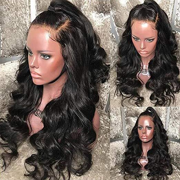 Satışa hızlı teslimat bakire remy İnsan saç kadınlar için uzun doğal renk vücut dalga tam dantel peruk