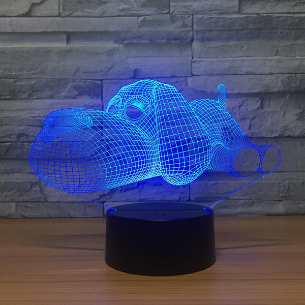 Lying Dog 3D Illusion light Lamp 3D Optical Lamp 5th Battery USB Powered 7 RGB Light DC 5V Wholesale Free Shipping