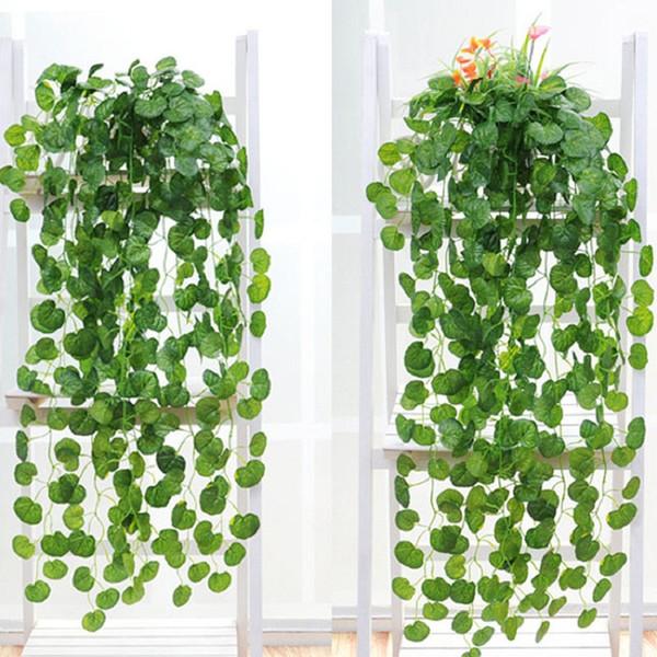 Artificial plants 12Pcs/lot Artificial Ivy Leaf Garland Plant Vine Fake Foliage Flowers Home Decor Artificial Cheap Rattan Evergreen Cirrus