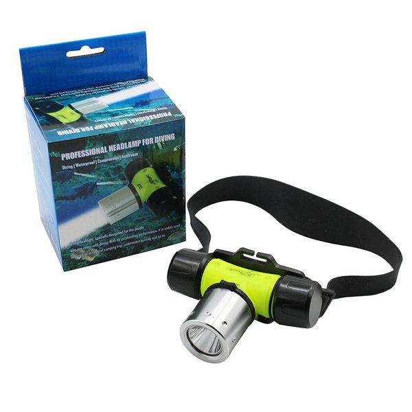 Diving Headlight Underwater Headlamp Submarine Torch Flashlight CREE T6 LED Lamp for Diving,Hiking and Camping