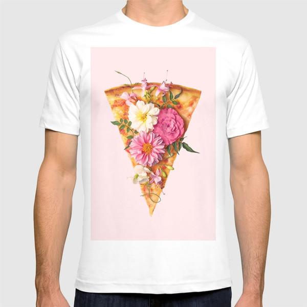 2018 новый футболка цветочные пицца рубашка