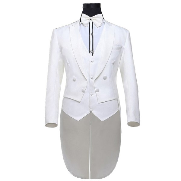 Brand Tuxedo Men Suit 2016 New Arrial Mens Slim Fit Prom Tuxedos For Men Stylish Groom Wedding Suits for White Costume Homme