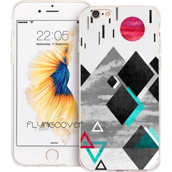 Funda protectora de silicona para TPU con un patrón antigravitatorio transparente para iPhone X 7 8 Plus 5S 5 SE 6 6S Plus 5C 4S 4 iPod Touch 6 5 carcasas.