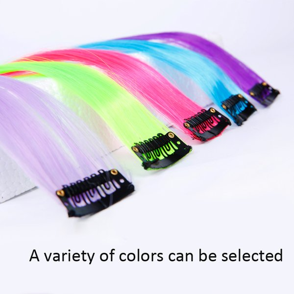 best selling Long Straight Clip In Hair Extensions Fake Hairpieces Heat Resistant Synthetic Fake Hair Extensions