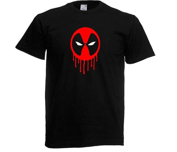 DEAD POOL MENS T-SHIRTS WITH GLOW IN THE DARK EYES & ALSO IN KIDS SIZES