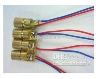 10pcs mini 650nm 6mm 5V 5mW Laser Dot Diode Module Head WL Red